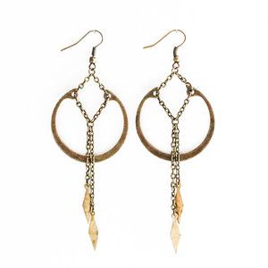 Vintage Brass Diamond Drops, $29, now featured on Fab.