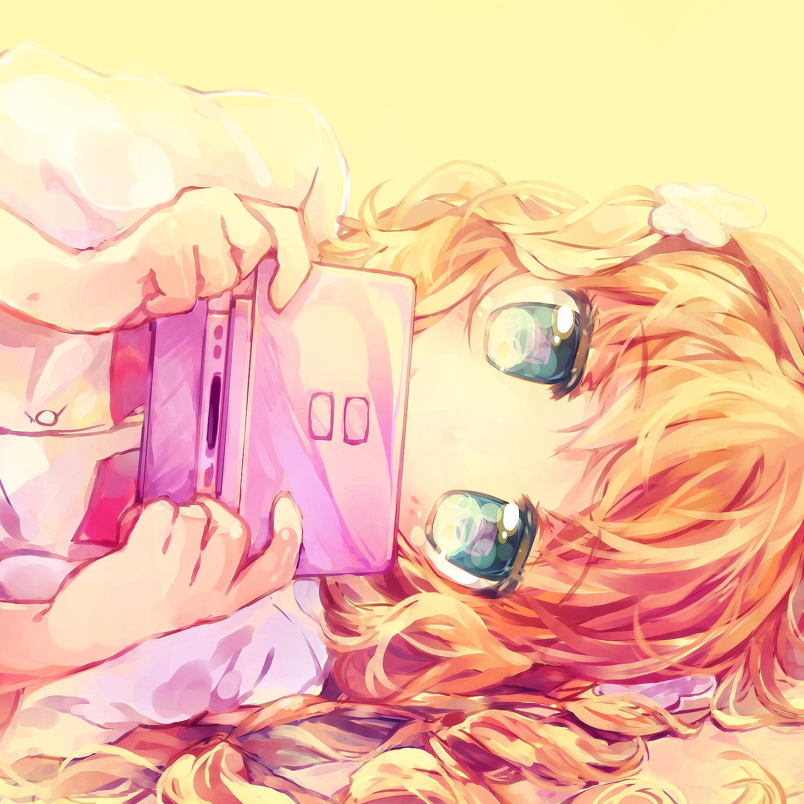 aqua_eyes blonde_hair colored_eyelashes covering covering