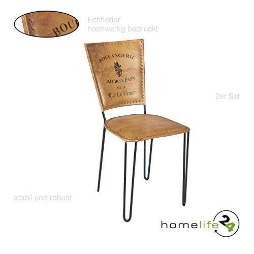 Stuhl 2er Set Leder Braun Schwarz Eisen Stuhl Retro Vintage Antik Echtleder  Wohnzimmerstuhl Esszimmerstuhl Für Ihre Vintage Einrichtung Ihrer Kücheu2026