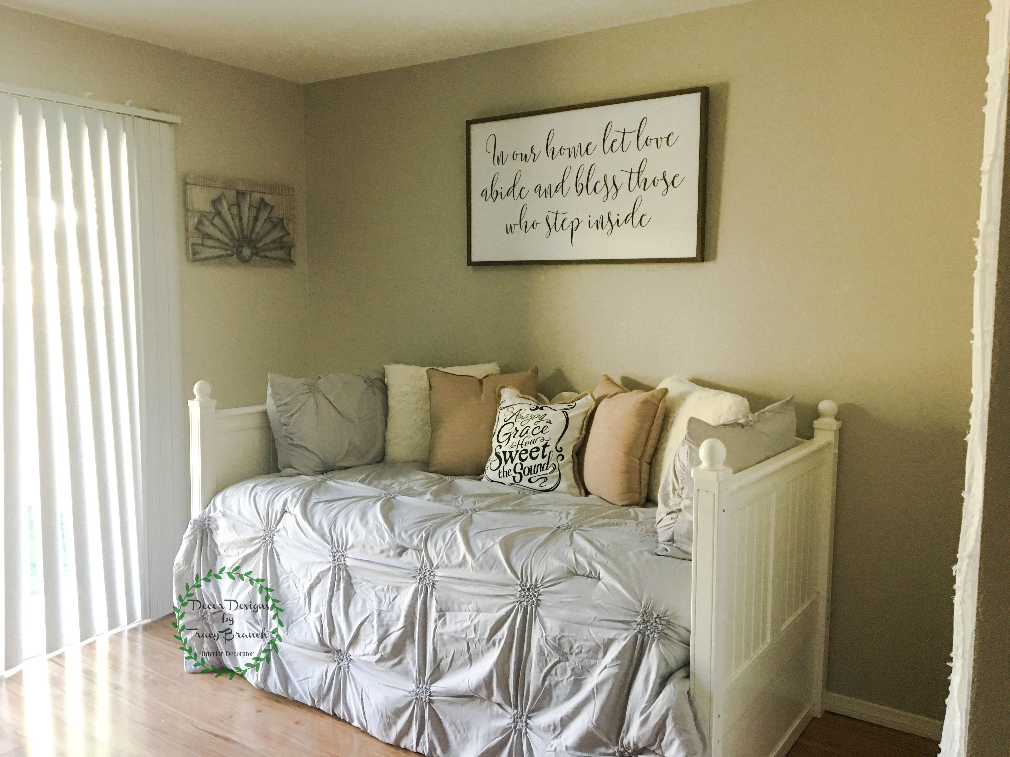 Guest Room/Office Farmhouse style. Styled with a Trundle