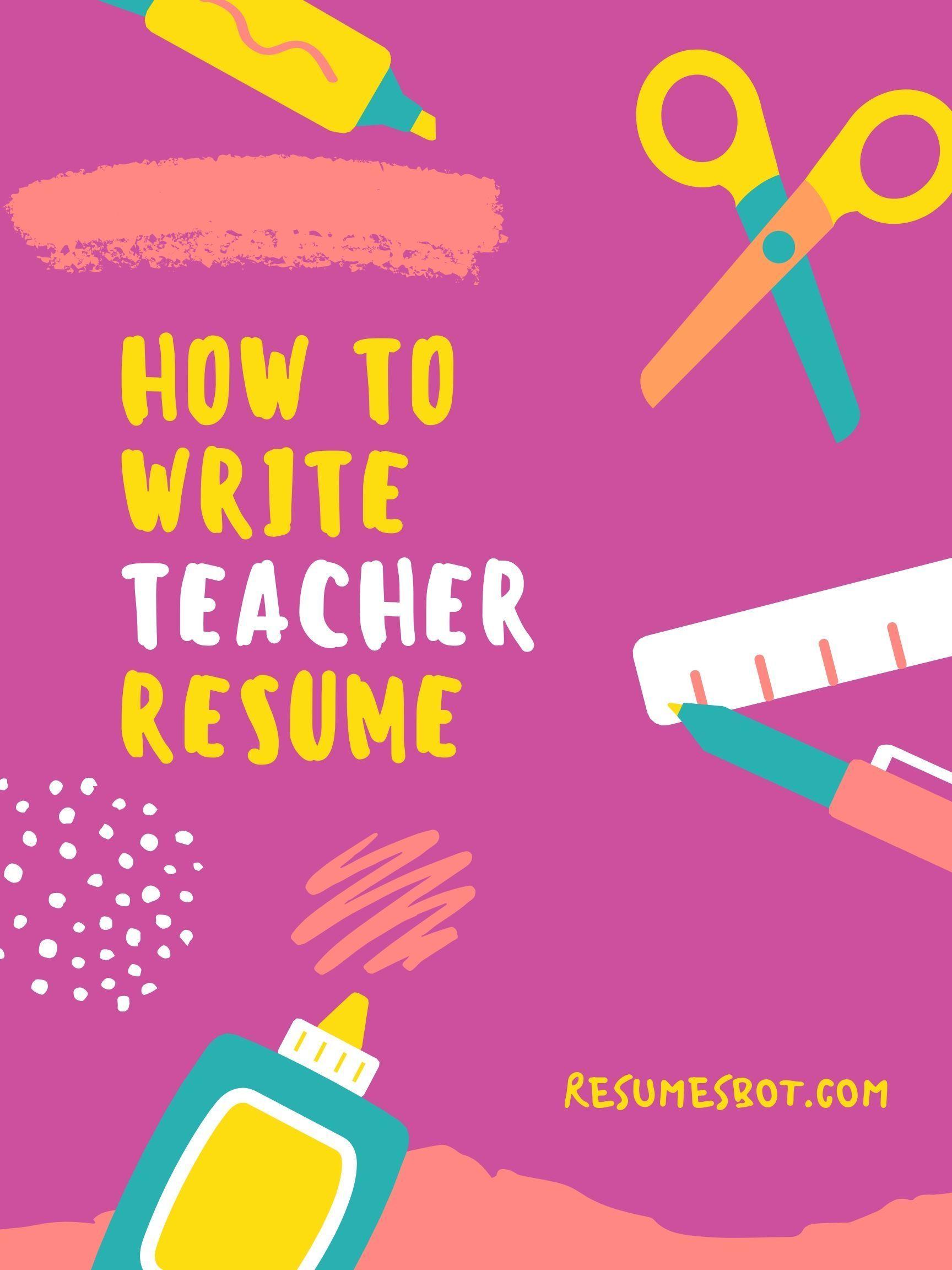Teacher resume teacher resume examples resume advice