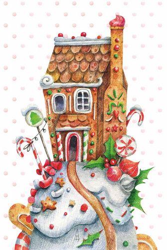 Пряничный домик • GrapeArt