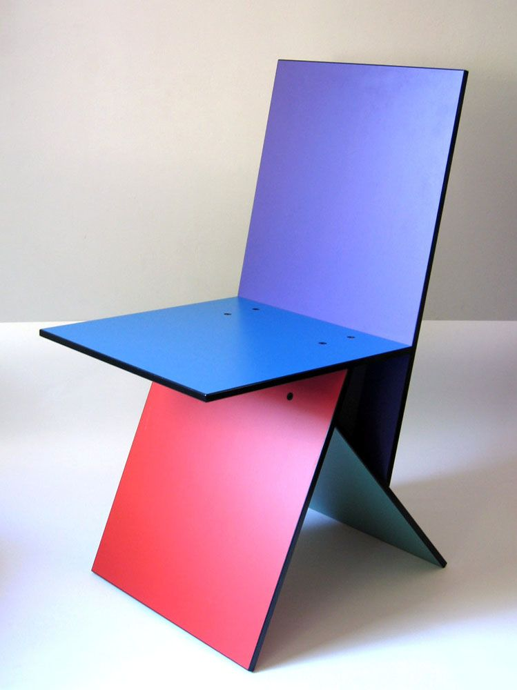 Vilbert Geometric Chair For Ikea 1993 Verner Panton Melamine Mdf