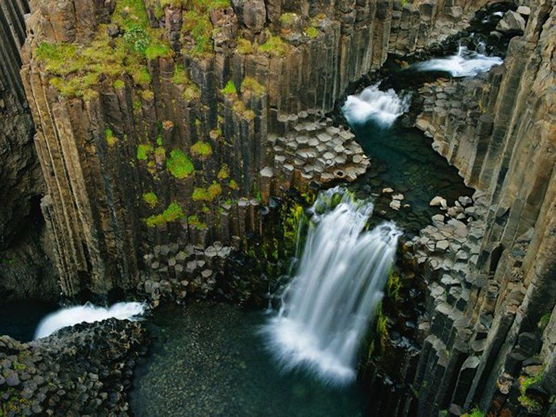Cascade de Litlanesfoss en islande Wallpaper