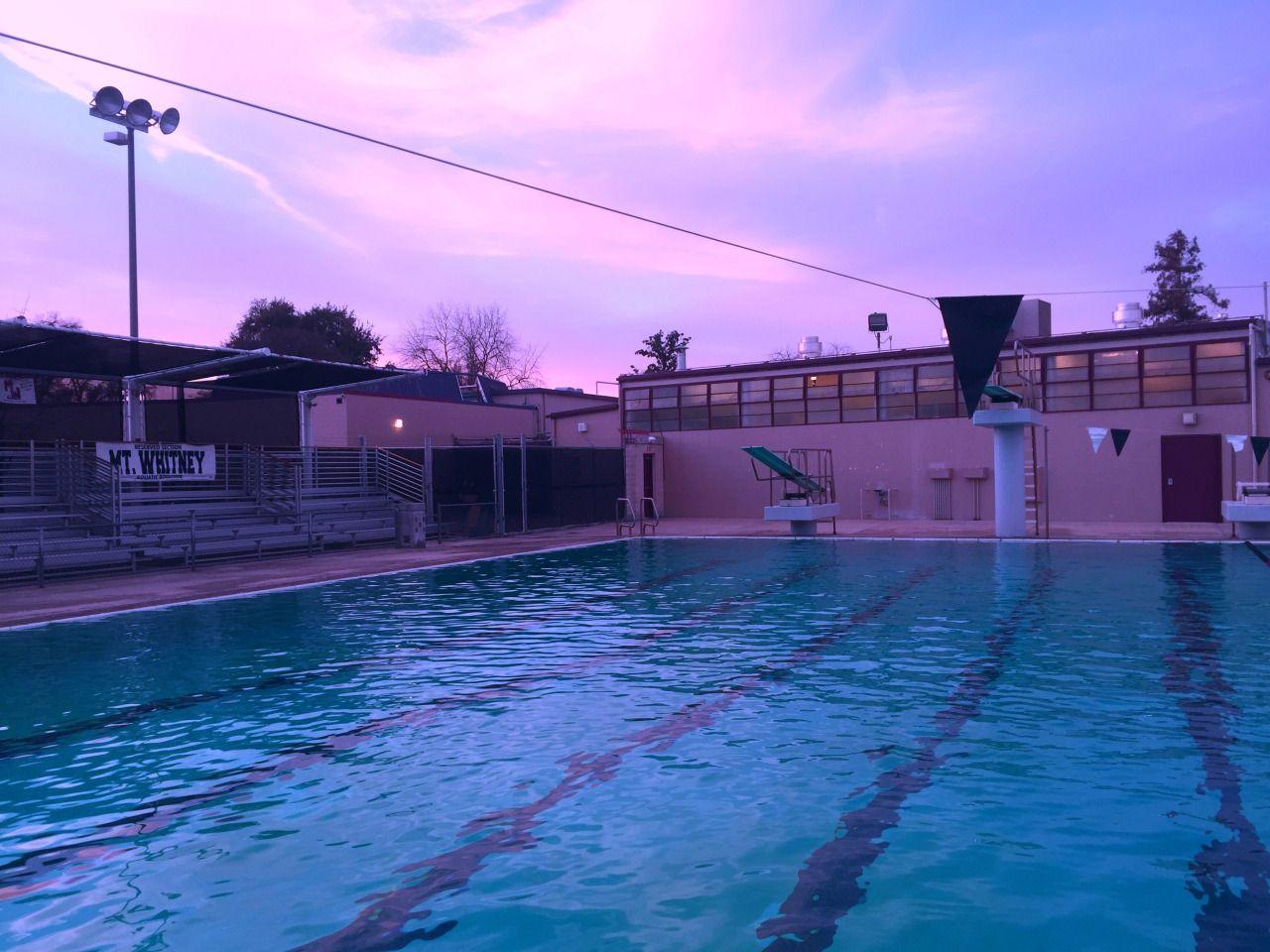 Blue Swimming Pool Aesthetic