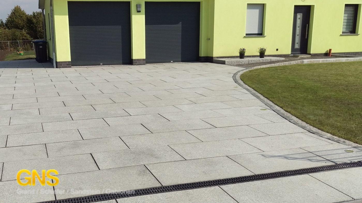 Granitplatten Einfahrt Terrassenplatten Grau Hellgrau Granitfliesen Granitplatten Granitpflaster