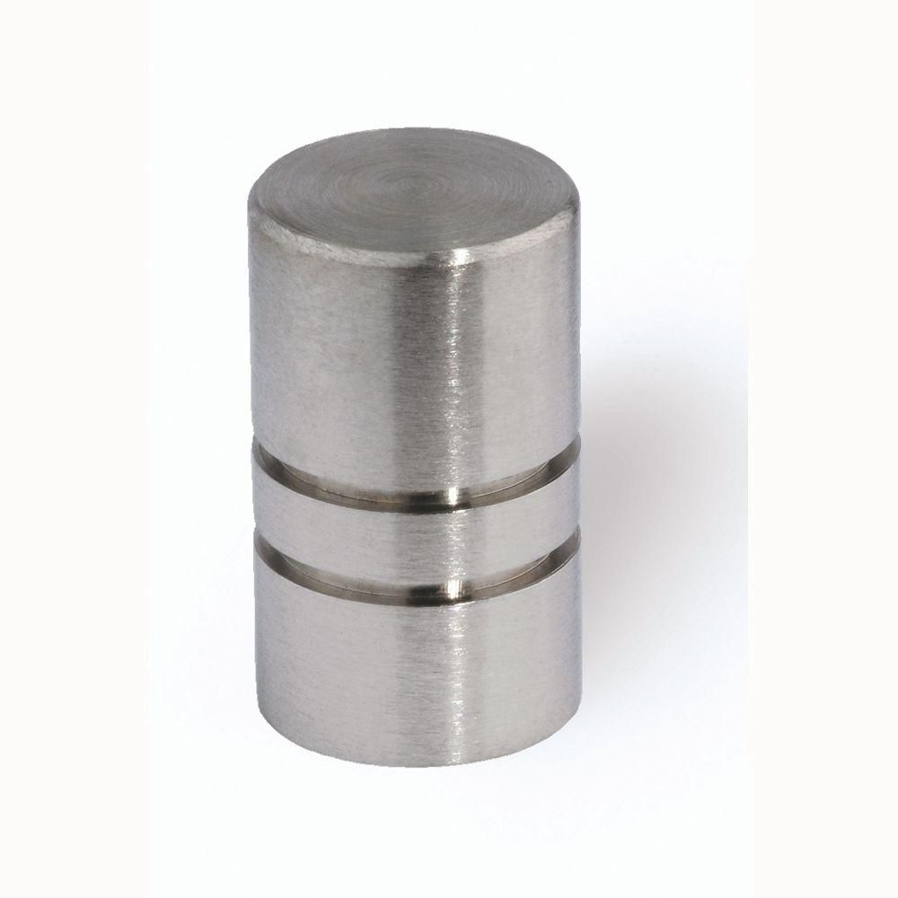 Fine Brushed Stainless Steel Cabinet Knob HD 44 338   The Home Depot