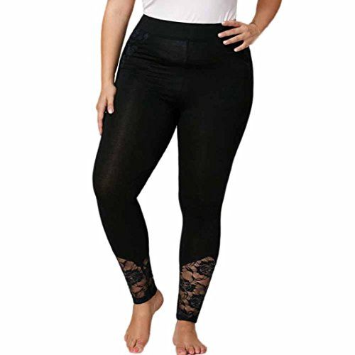 f945af8529968 Litetao Leggings, Women Yoga pants Plus Size Lace Elastic Sexy Sport Health  Fitness Trousers
