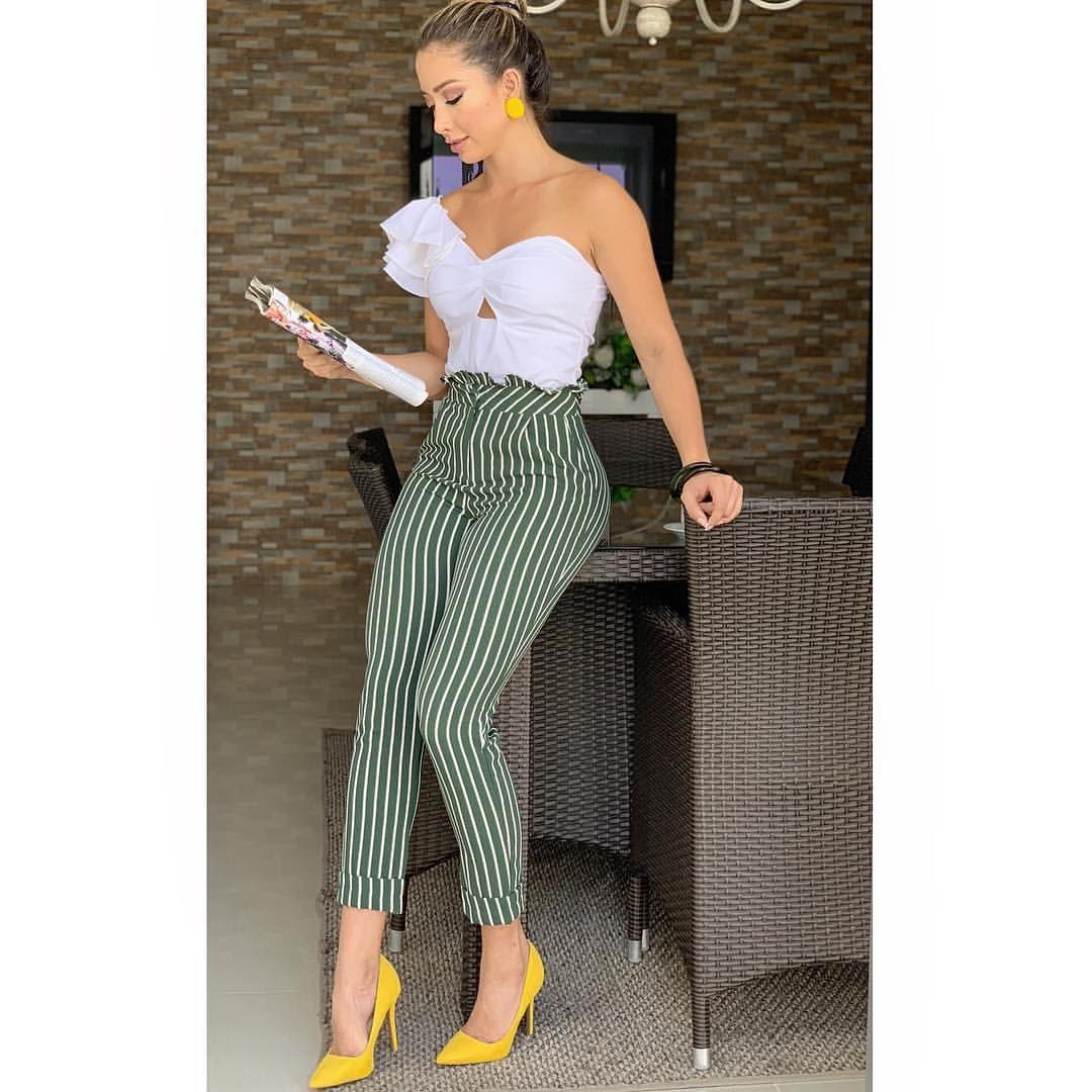 Nueva Coleccion Prendas De Brasil Italia Y Estados Unidos Conjunto 239 000 La Linea De Informa Ropa De Moda Ropa De Vestir Mujer Pantalones De Moda Mujer