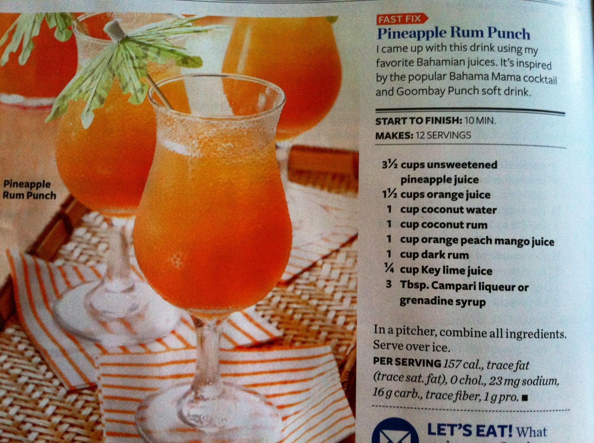 Pineapple Rum Punch | Booze | Pinterest