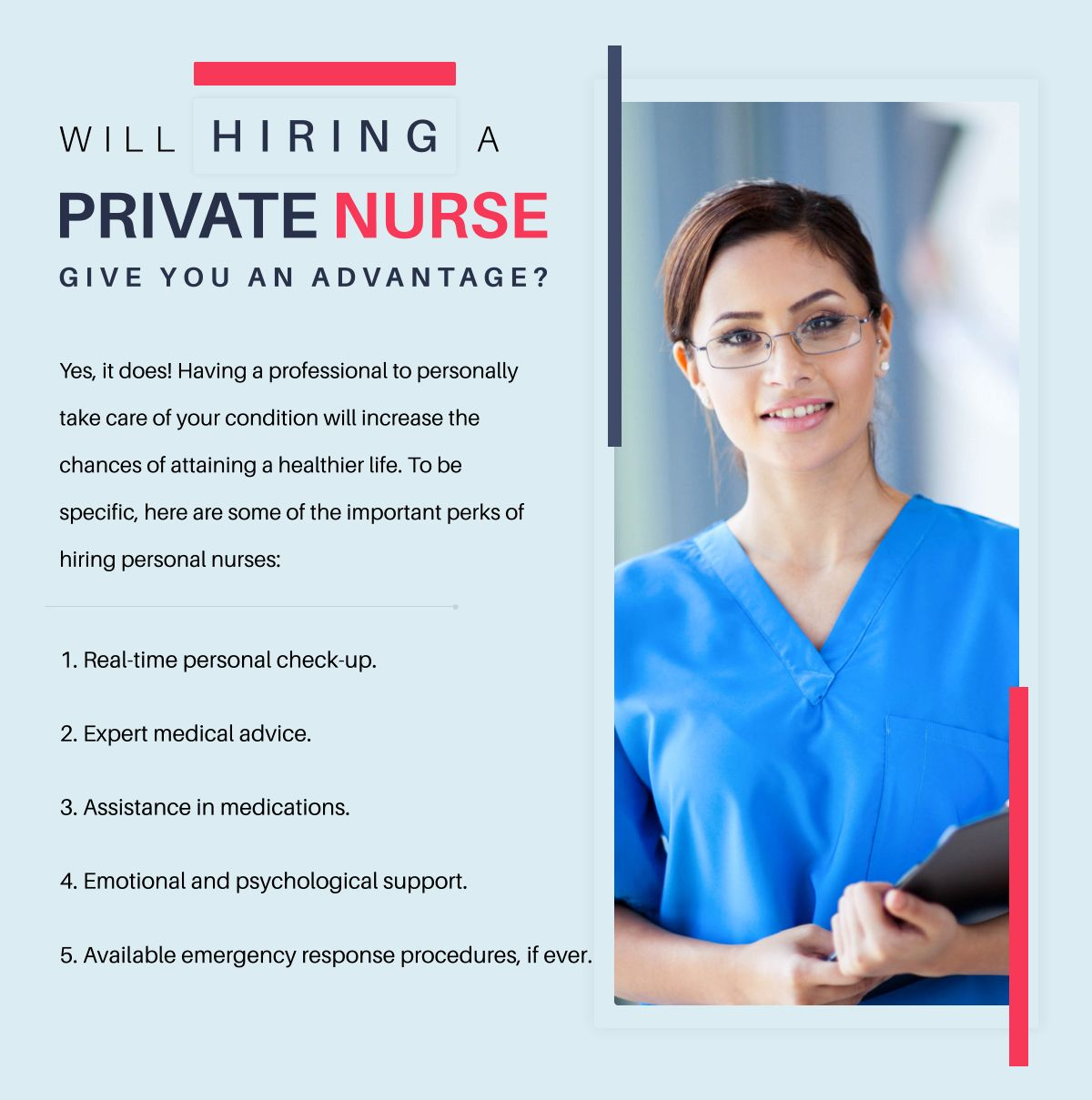 Will Hiring A Private Nurse Give You An Advantage