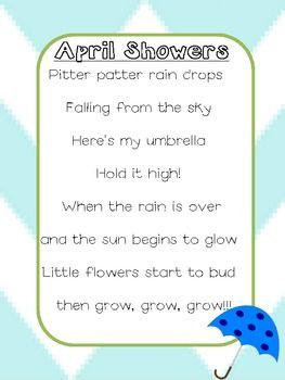 April Showers Poem April Showers April Poems