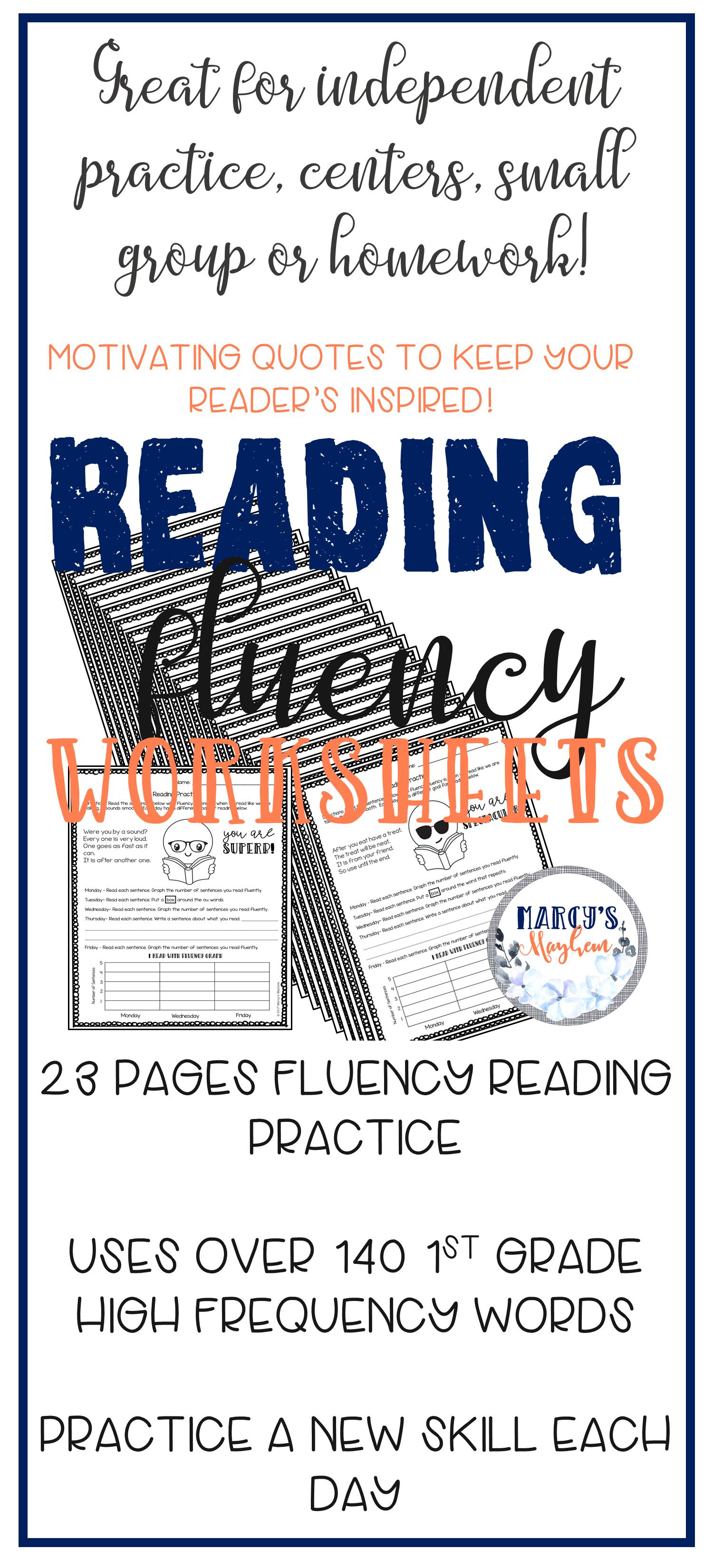 Reading Fluency Practice For 1st Grade
