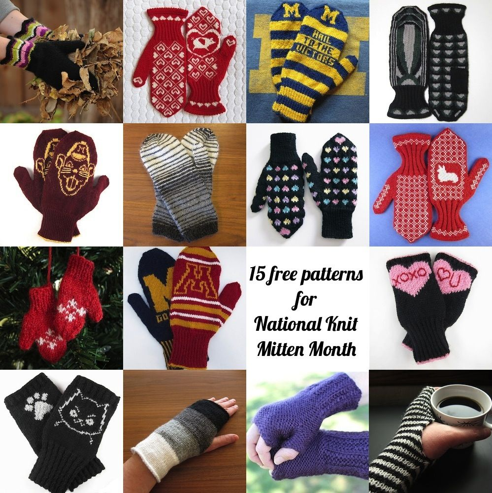 15 Free Patterns for National Knit Mitten Month | knitting ...