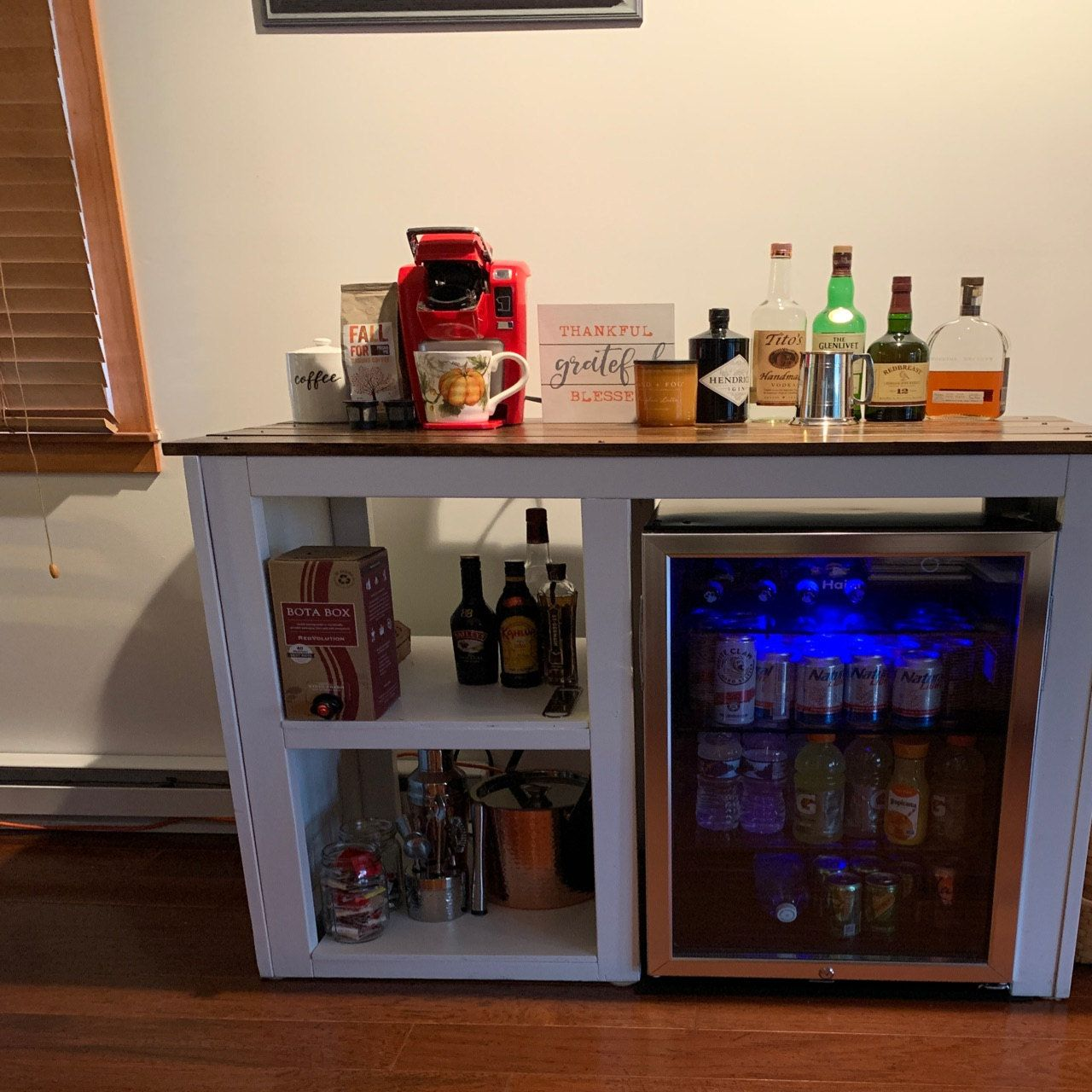 Mini Fridge Table Mini fridge, Game room bar, Small game