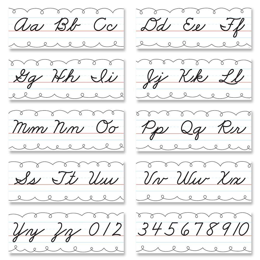 Alphabet Line Cursive Handwriting Bulletin Board Set in