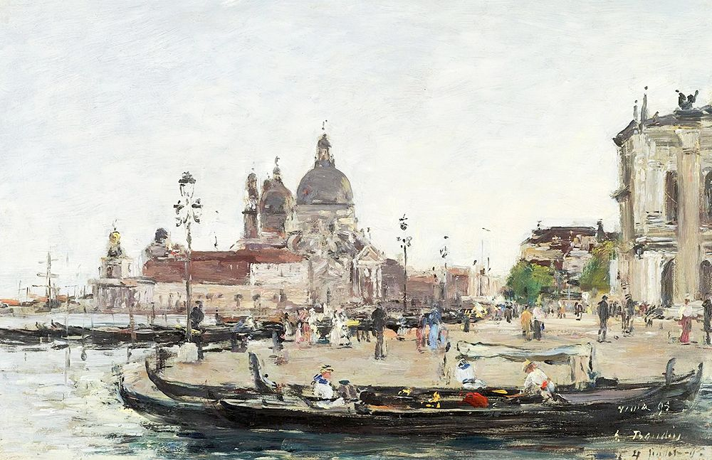 """Boudin Eugene - Venice Salute 1895 Sotheby (from <a href=""""http://www.oldpainters.org/picture.php?/47238/category/15813""""></a>)"""