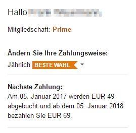 Amazon Prime: Preiserhöhung von 49 Euro auf 69 Euro pro Jahr - http://aaja.de/2fjduDL