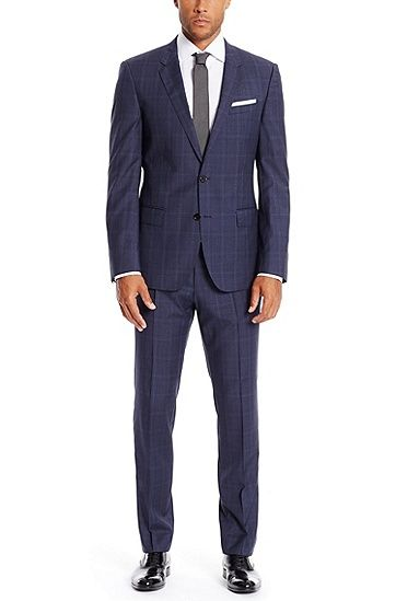 4cb6bfb99 Huge/Genius | Slim Fit, Super 120 Italian Virgin Wool Suit Huge/Genius | Slim  Fit, Super 120 Italian Virgin Wool Suit, Blue