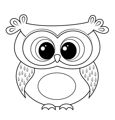 Cartoon Owl Coloring page … | Pinteres…