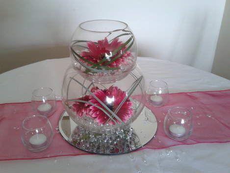 Double fishbowl centerpiece & Double fishbowl centerpiece   DIY \u0026 Crafts   Pinterest   Fishbowl ...