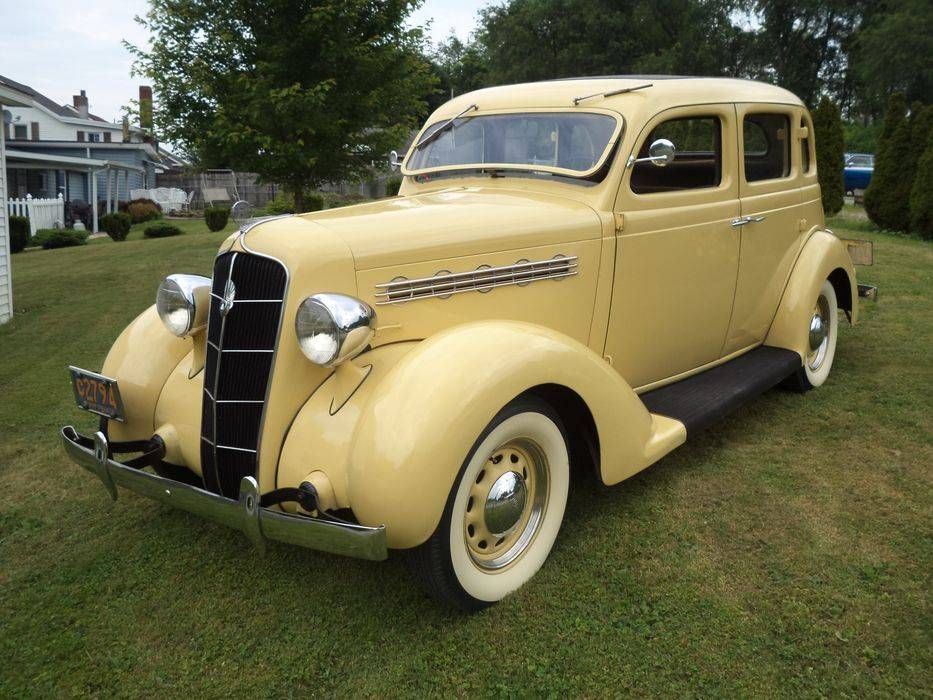 1935 Plymouth Deluxe Touring Sedan With Images Antique Cars