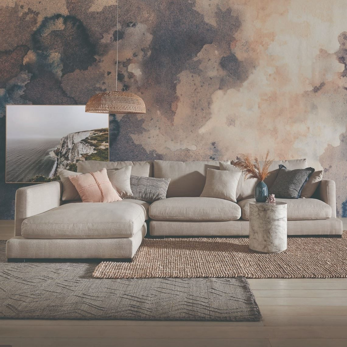Hamilton 3 Seat Fabric Modular Sofa With Left Terminal In 2020 Modular Sofa Freedom Furniture Leather Modular Sofa
