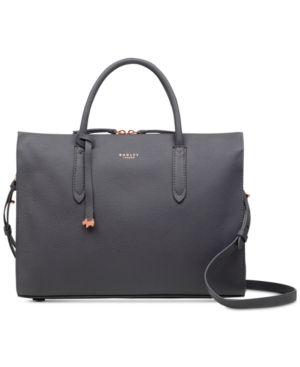 0ea840343d Radley London Arlington Court Leather Satchel - Gray Radley London Handbags,  Cheap Purses, Purses