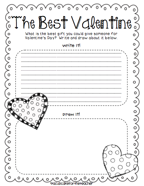 valentine's day writing lessons