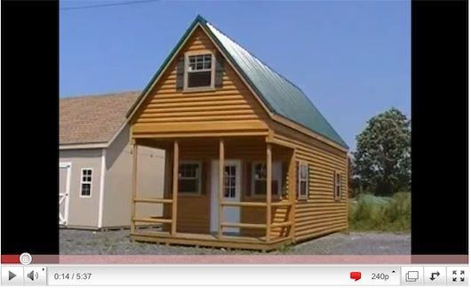 Cabin Plans And Designs Free Tiny Log Cabin Shed Amish