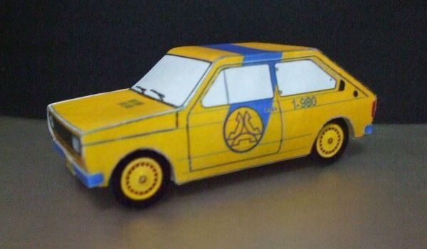 Miniatura De Papel Fiat 147 Telesp Miniaturas Telecomunicacoes