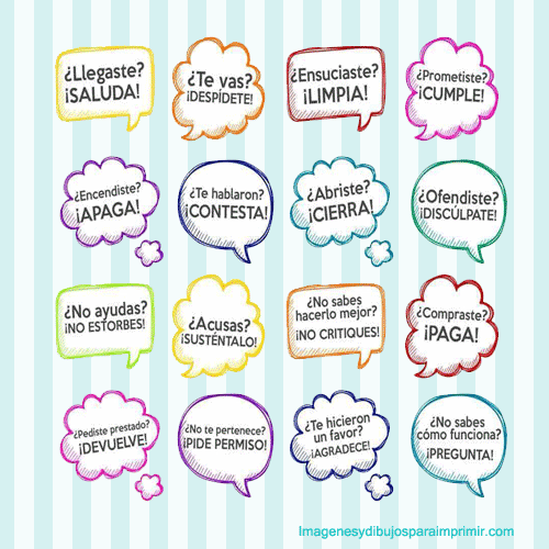 Frase de buenos modales para ni os imagenes y dibujos para for Frases para cuartos de ninas
