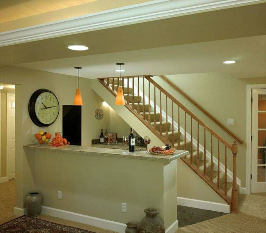 Basement Stairs With Wooden Railing : Basement Stairs