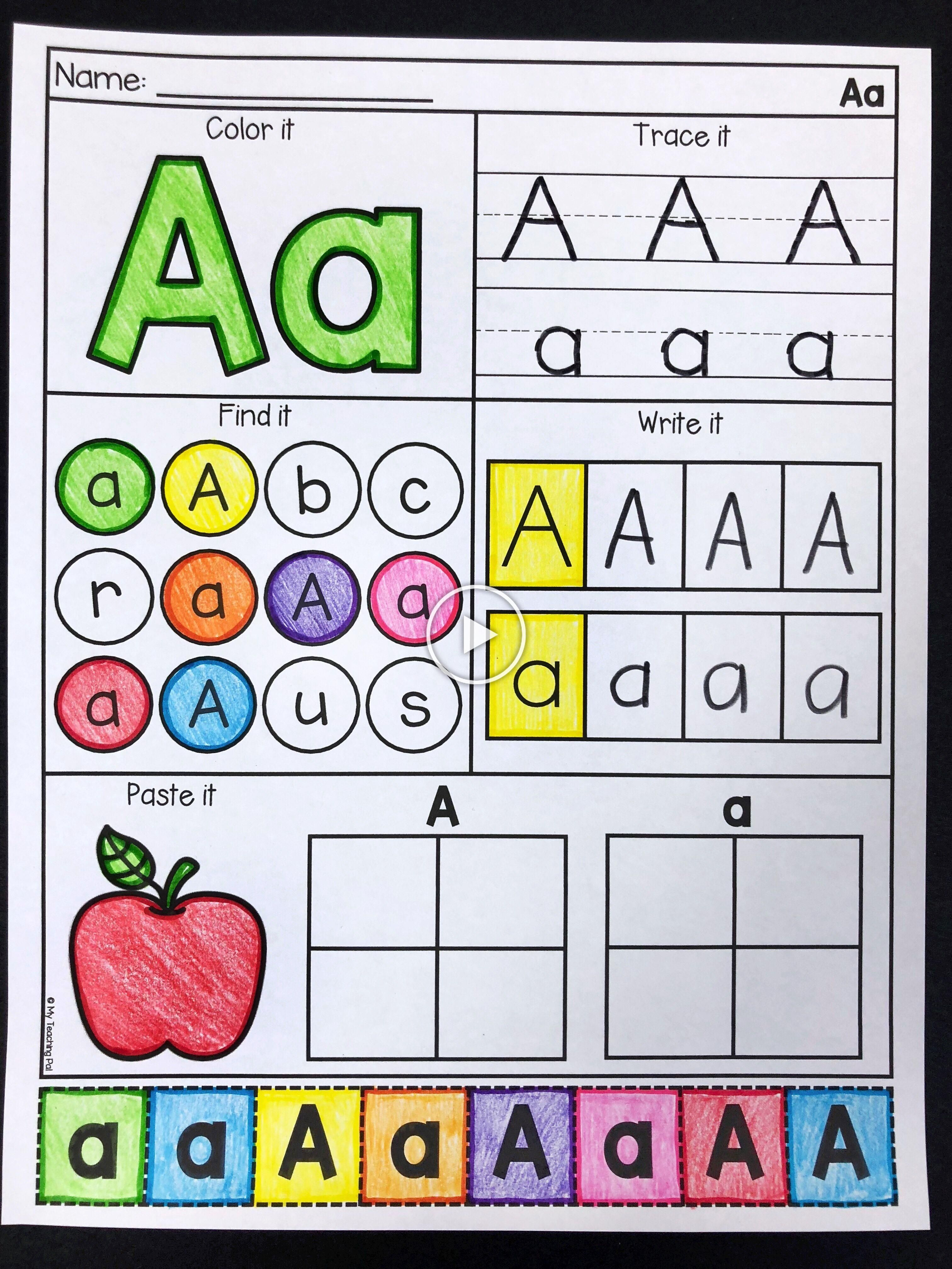 Letter A Alphabet Worksheets For Preschool And