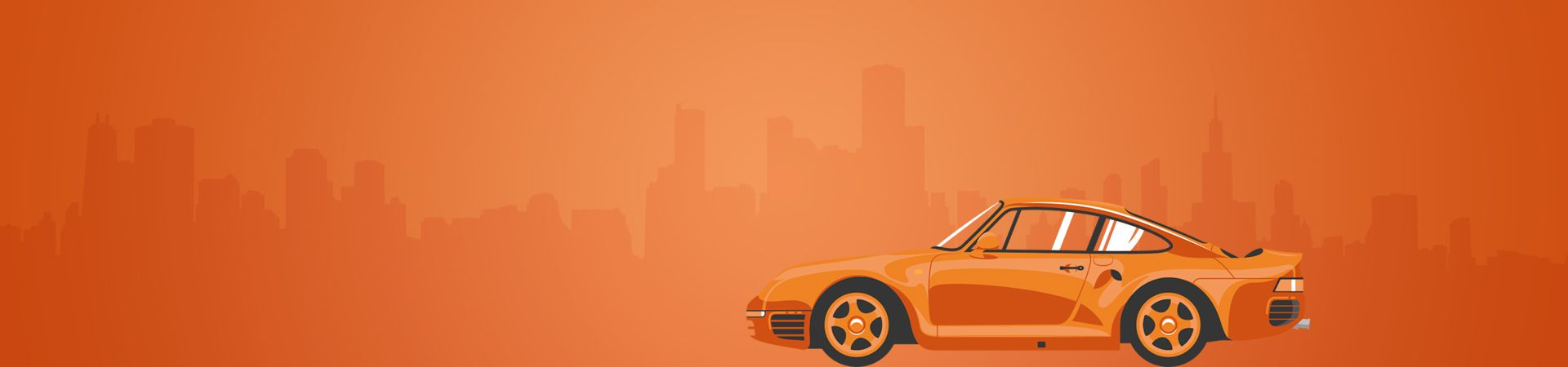 Orange Vintage Car Background
