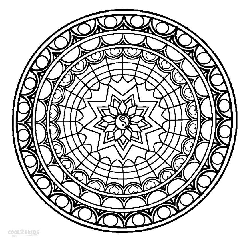 Printable Mandala Coloring Pages For Kids Mandala Coloring Pages Abstract Coloring Pages Mandala Coloring