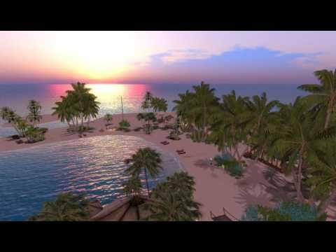 Plage dans le monde virtuel