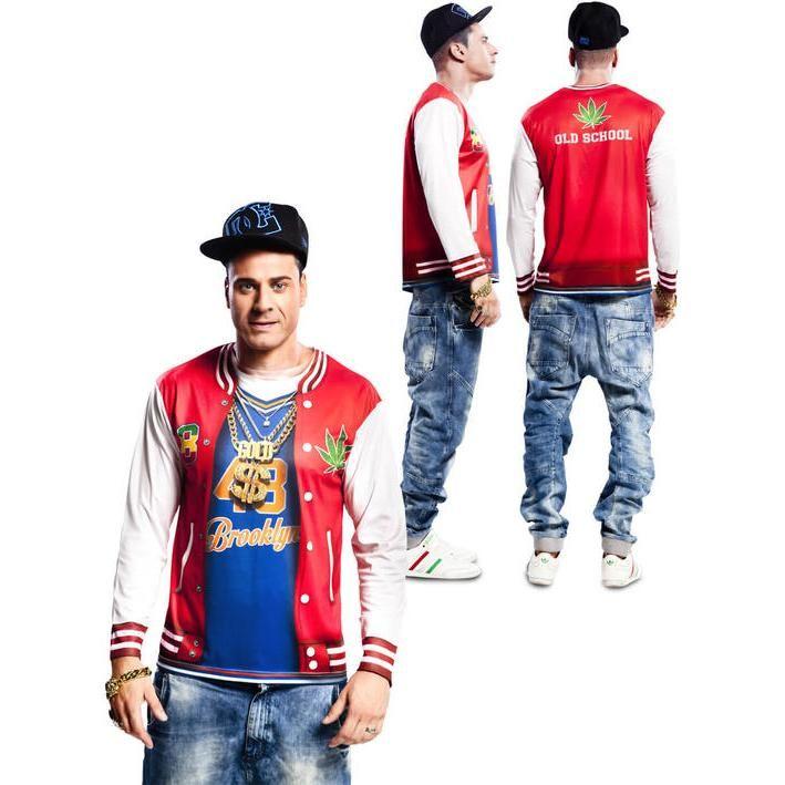 b3638891540bd Disfraz camiseta de rapero para hombre