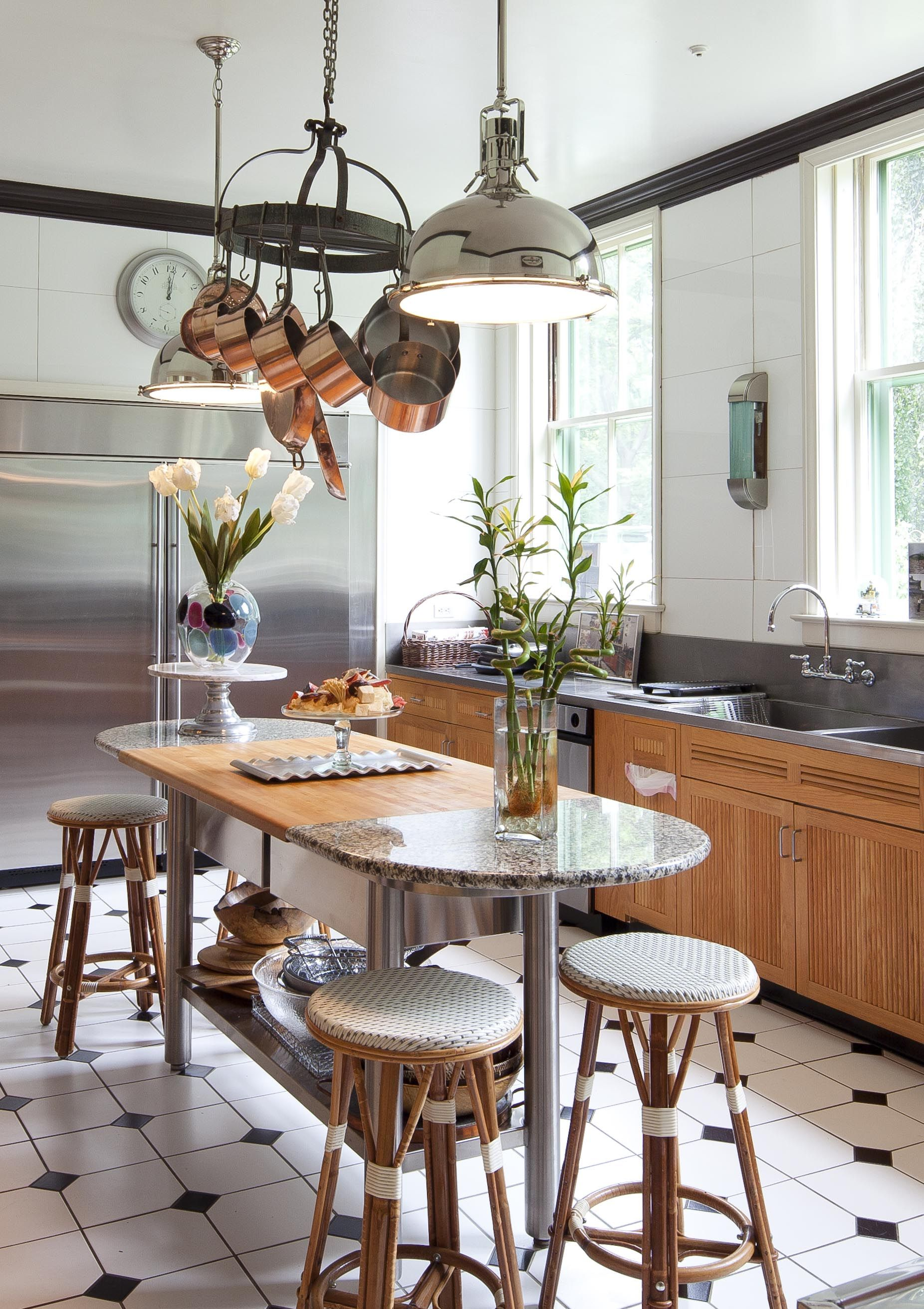 Kitchen In Newport, R.I. Photo: Trent Bell For The New York Times. Copper  Pots Hanging From The Ceiling...my Dream Kitchen Feature.