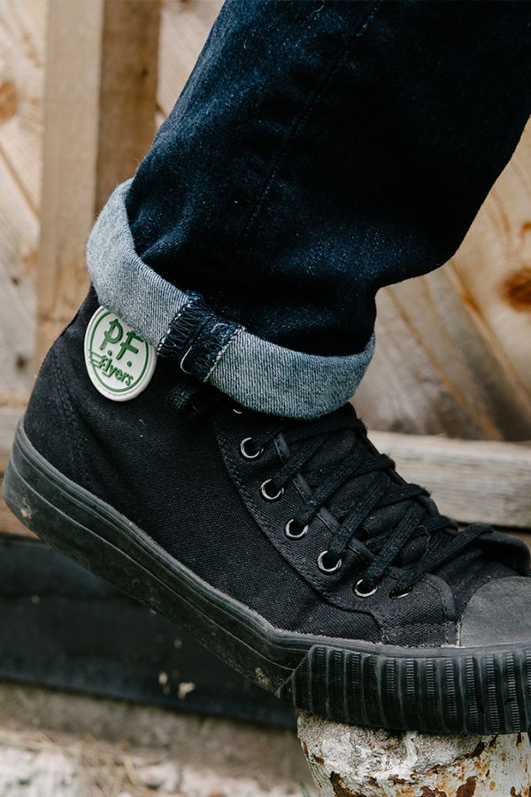 face6c08bf7d10 PF Flyers - center hi canvas sandlot in black - classic high tops ...