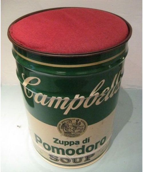 Homage to Andy Warhol Campbells Soup Stool