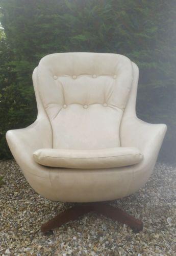 vintage mid century cream swivel tilt egg chair parker knoll g plan