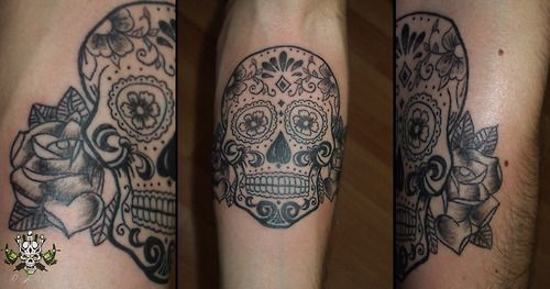 http://dtattoo35.tumblr.com,candy skull tattoo, submitted…