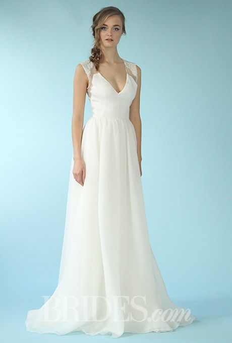 """The Archway"" sleeveless V-neck A-line organza wedding ..."
