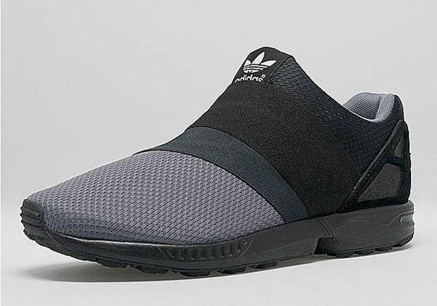 01b748f49 Adidas ZX Flux Slip-on - Grey   Black