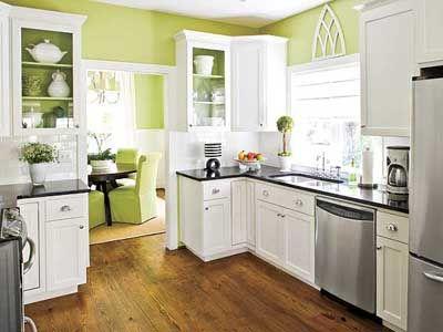 De qué color pintar la cocina. 19 Cocinas pintadas | Pintar, Verde y ...