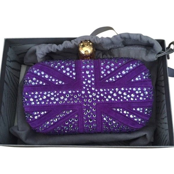 Pre-owned Alexander Mcqueen Skull Purple Clutch (13 890 SEK) ❤ liked on Polyvore featuring bags, handbags, clutches, purple, alexander mcqueen purse, alexander mcqueen, purple purse, purple clutches and pre owned purses