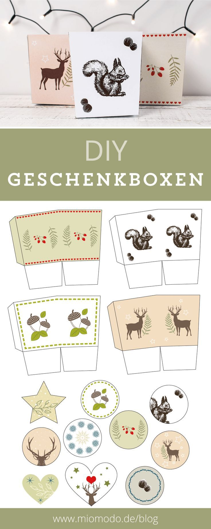 DIY Gift Boxes for Christmas | Christmas DIY, christmas crafting, gift ...  - Verpackungsideen & Geschenkanhänger -