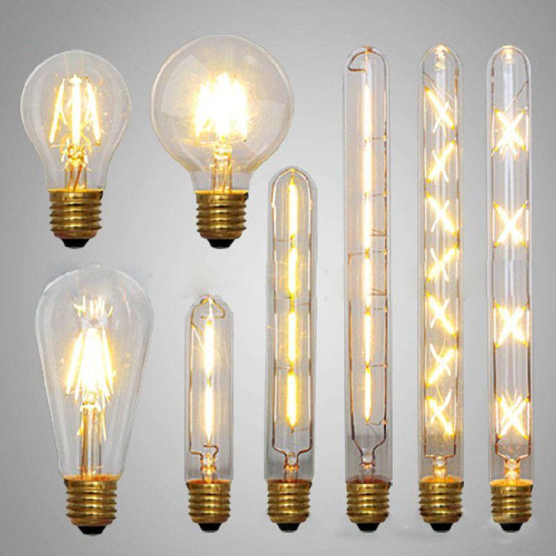 Ikeacasa Ampoules Bombillas Lampada Gluhbirnen Lampa Led Edison Bulb Retro Bombillas Led E27 E14 Vintage Led Filament Energy Saving Lamp 4w 6w 8w 220v 110v For W 6 Led