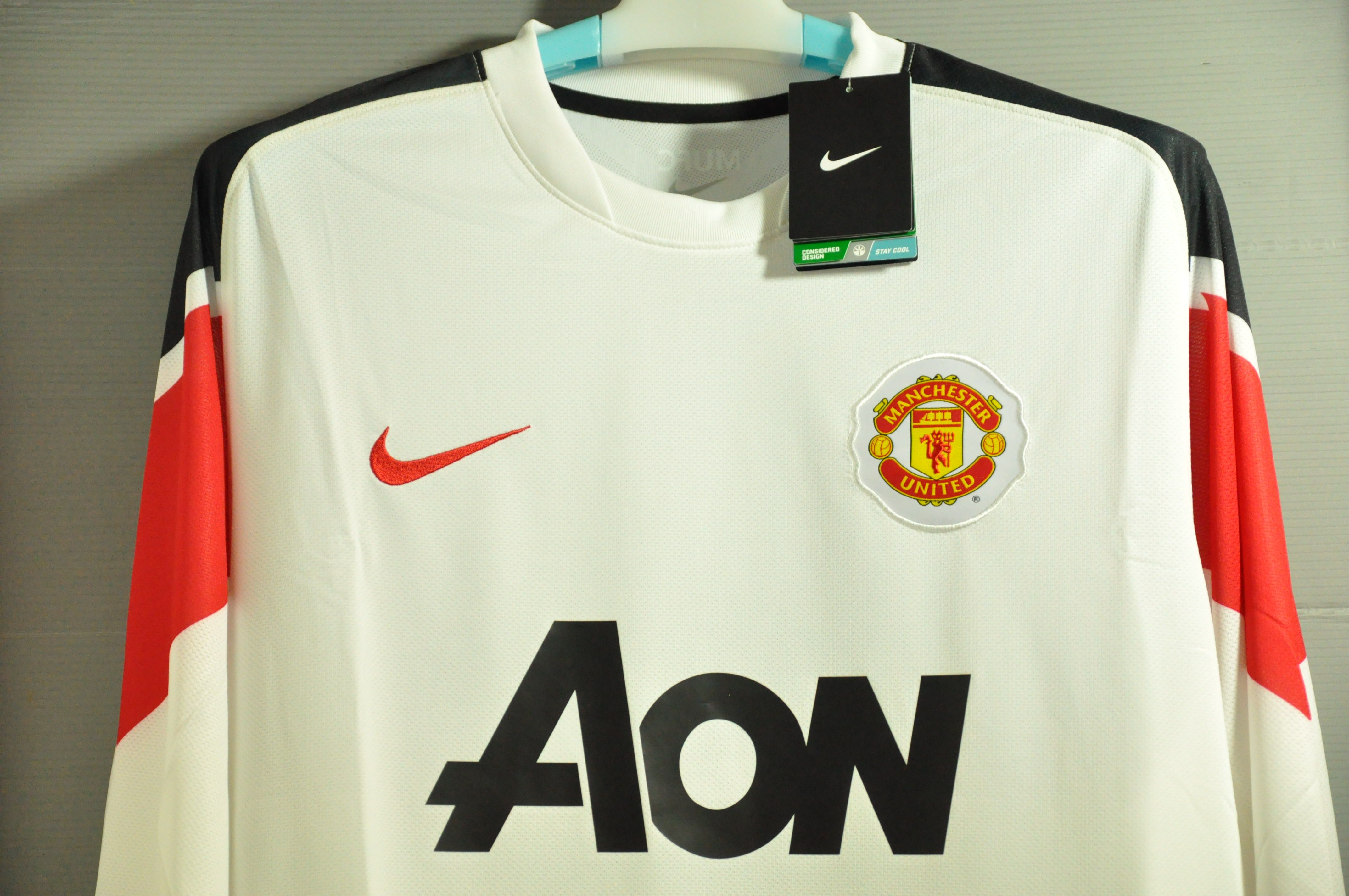 Manchester united nike away jersey long sleeves 2010